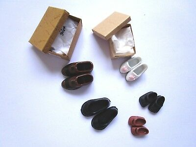 5 pairs 1:12 scale Heidi Ott shoes for a family of dollhouse dolls