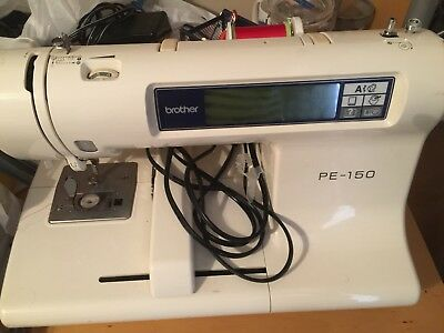 Brother PE-150 Computerized Embroidery Machine With a New Set Of 4 Emb. Hoops!