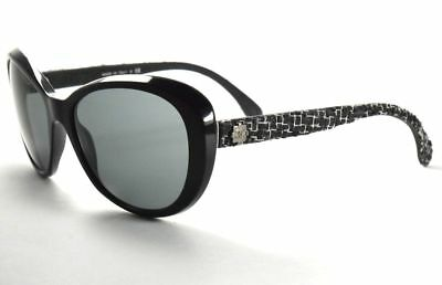 2132019f2e Chanel Sunglasses 5241 501 3F Tweed Collection Black   Gray Lenses