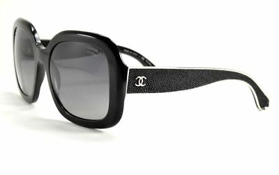 e35d7eb288 Chanel Sunglasses 5272 Q 501 s8 Black Soft Stingray Leather   Polarized  Black L