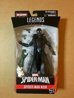 "Marvel Legends SPIDER-MAN NOIR Figure 6"" w/ Lizard BAF Spider-Verse"