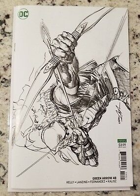 GREEN ARROW ISSUE #48 VARIANT SKETCH NEAL ADAMS COVER DC COMICS NM Cover B