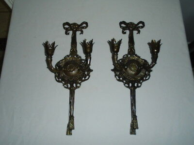 medieval Gothic wall decor candle sconce holder metal
