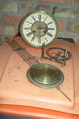 Clock Parts D R P Fms  Viennia Movement Striking + Coil + Pendulum Working