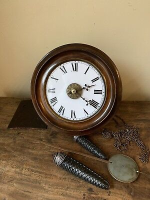 Original Antique Black Forest Postman's Alarm Clock
