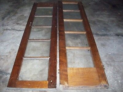 Antique  set of French Doors 5 glass windows, 1920's Era. As found, No Reserve.