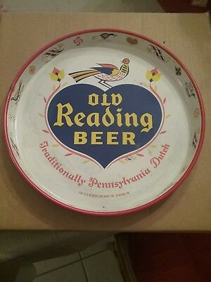 Vintage Old Reading Beer Traditionally Pennsylvania Dutch  Tin Tray
