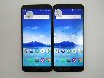 Lot of 2 Cracked Alcatel 7 6062W Metro PCS Check IMEI 5CR 840