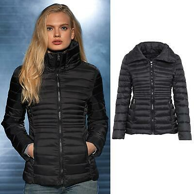 2786 Women's Black Contour Quilted Jacket TS27F - Warm Lightweight fitted look