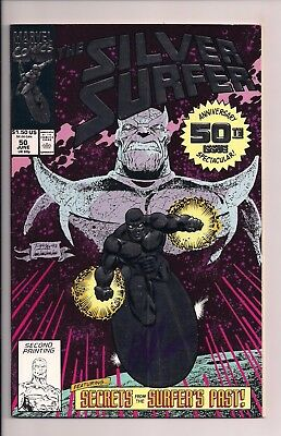 The Silver Surfer #50 Signed by Jim Starlin Thanos Infinity Gauntlet Marvel WCOA
