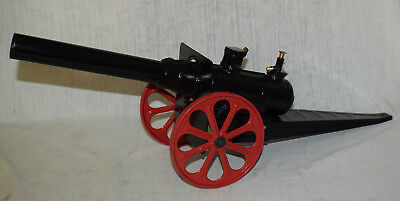 """Large 24"""" Long Conestoga Big Bang Cannon - Black and Red - Very Good Shape"""