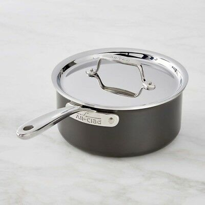 All-Clad LTD3203 Tri-ply Stainless Steel Hard Anodized Exterior 3-qt Sauce Pan