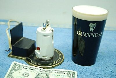 Vintage Guinness Beer Glass Advertising Wall Mount Display Light / Sign