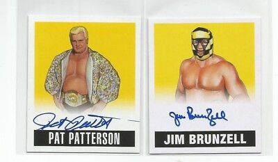 PAT PATTERSON  2018 Leaf Legends Of Wrestling  Yellow  AUTOGRAPH #47/99