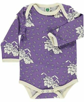NEW - SMAFOLK Purple Flower and Rabbit  Body - size 68 (6 months)