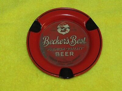 Becker's Best Premium Quality Beer ashtray Ogdon Utah