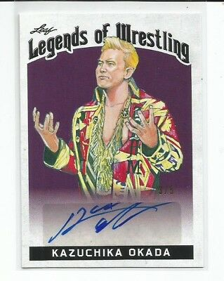 KAZUCHIKA OKADA  2018 Leaf Legends Of Wrestling Purple Parallel  AUTOGRAPH  #3/5