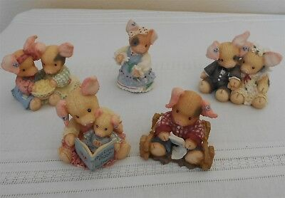 This Little Piggy Lot Of 7 Figurines