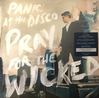 Panic! At The Disco ‎- Pray For The Wicked LP - SEALED Clear Colored Vinyl Album