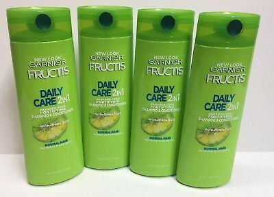 Lot of 4 Garnier Fructis Daily Care 2-in-1 Shampoo and Conditioner 12.5 fl oz