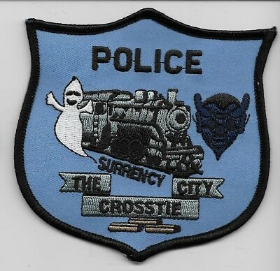 Train & Ghost Surrency Police State of Georgia GA Shoulder Patch