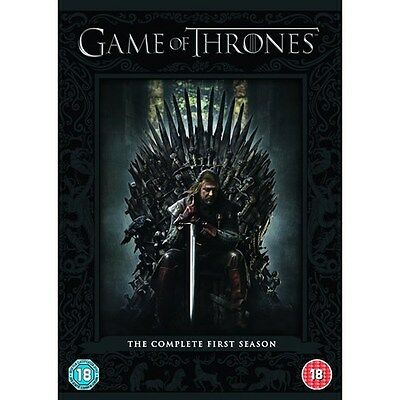 GAME of THRONES - Complete First Season (DVD-2012,5 Discs Box Set) Region 2*****