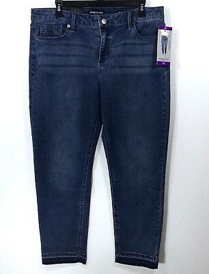 Kenneth Cole New York Women s Jeans Size 14 Jess Skinny Mid-Rise Ankle Pant  NWT 1c188ad1f