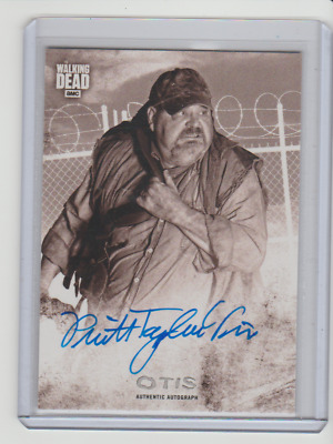 2018 The Walking Dead Hunters and Hunted Auto Sepia Pruitt Taylor Vince Otis /10