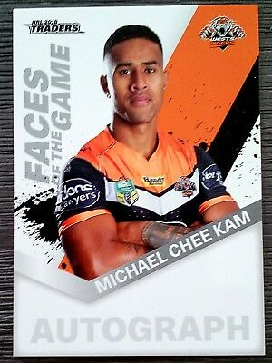 2018 Nrl Traders 'faces Of The Game' Trading Card - Michael Chee Kam/tigers