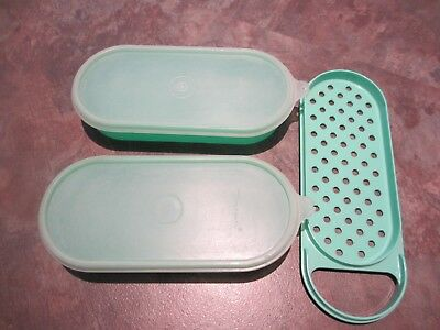Vintage Tupperware cheese grate and store - 5 piece