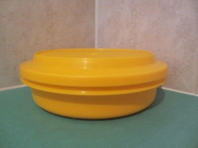 Vintage Tupperware - Harvest gold coloured  -  serve and store