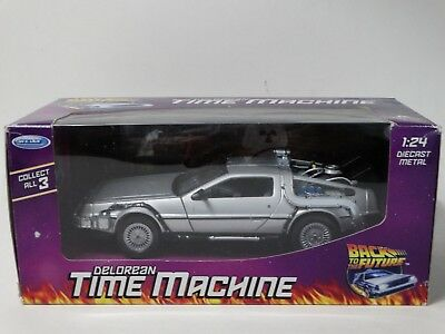 Welly Delorean Time Machine Back To The Future #1 Movie Car 1:24 Diecast Model