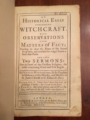 Rare Salem Witches Trials Th Century Book Advertisement  Old  Rare  Historical Essay Concerning Witchcraft Salem Witch Trials Occult  Magic High School Application Essay Sample also How To Write A Proposal Essay Example  English Composition Essay Examples