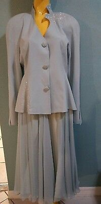 Vtg Daymor Couture 2pc women's skirt suit Mother of the Bride 1980s