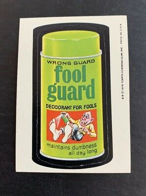 1976 1977 Topps Wacky Packages Original 16th Series 16 FOOL GUARD NICE