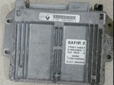 Calculateur SAFIR 2 35 pin Renault 1.2 7700114699 7700115597 décodé