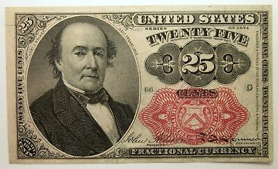 1874 United States of America 25 CENTS Fractional Currency 25C Note FR. 1309