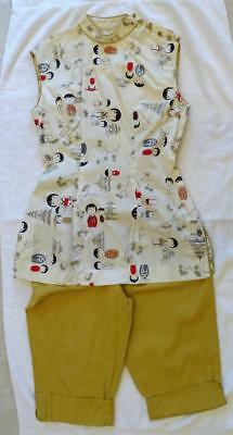 RARE Vtg 1950's Shaheen's of Honolulu Women's Japanese Themed Pants Set