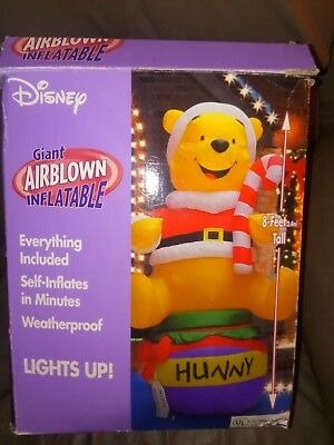 Disney Giant Airblown Inflatable Winnie The Pooh Christmas Rare Htf Gemmy Xmas