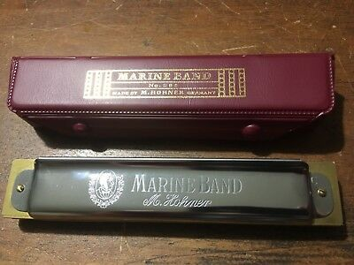 Vintage Classic Hohner Marine Band Model 365/28 with vinyl case Excellent