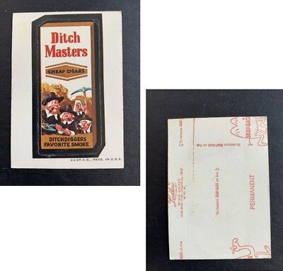1973 Topps Wacky Packages Original 2nd Series RED LUDLOW DITCH MASTERS
