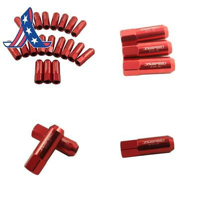 Jdmspeed 60Mm Aluminum Extended Tuner Lug Nuts For Wheel Rims M12X1.25 20Pcs ()