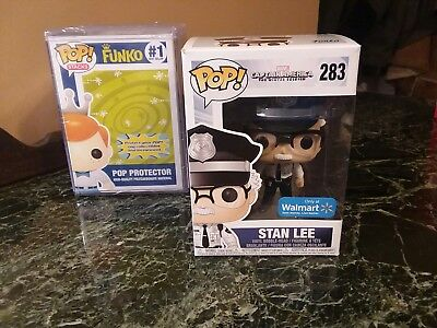 Funko Pop Walmart Excl Stan Lee Security Guard Winter Soldier WITH POP STACK