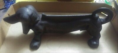 Vintage cast iron dachund dog boot scraper