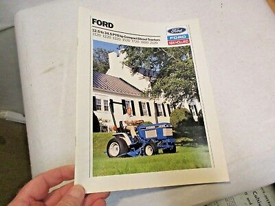 1991 Ford 12.5 to 34.5 Compact Diesel Tractors Brochure 1120, 1220, 1320, 1520,