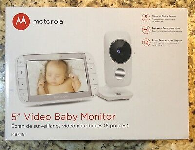 Digital Video-Audio Baby Monitor With 5-Inch Color Screen & High Sensitivity Mic