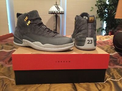 new arrival 0f285 67be5 Nike Air Jordan 12 Retro- Dark Grey Dark Grey-Wolf Grey 130690-