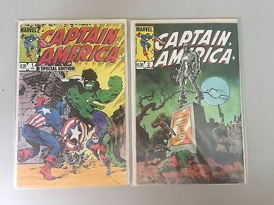 Compete Set of 2 Captain America Special Edition (1984) #1 2 VF Very Fine