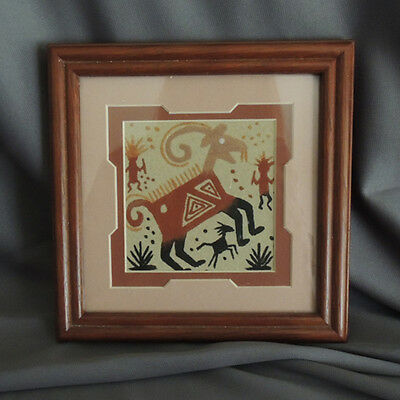 Sand Painting by Navajo Indian Artist Fred Hayes-Native American Collectible