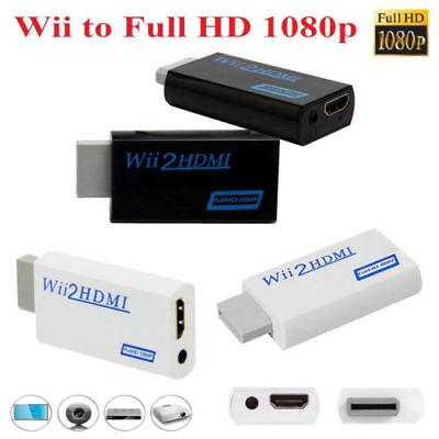 Wii to HDMI 1080P Upscaling Full HD Converter Adapter with 3.5mm Video Output EN